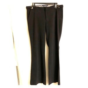 Gap black dress pants; adjustable side clips